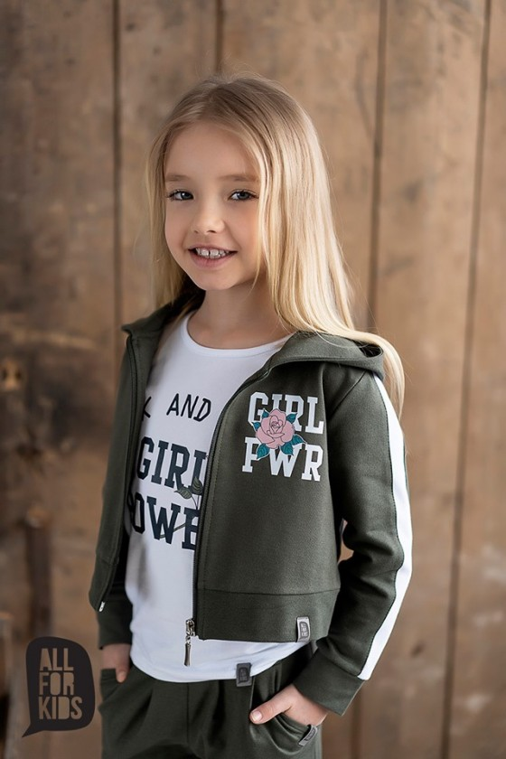 Bluza GIRL POWER khaki