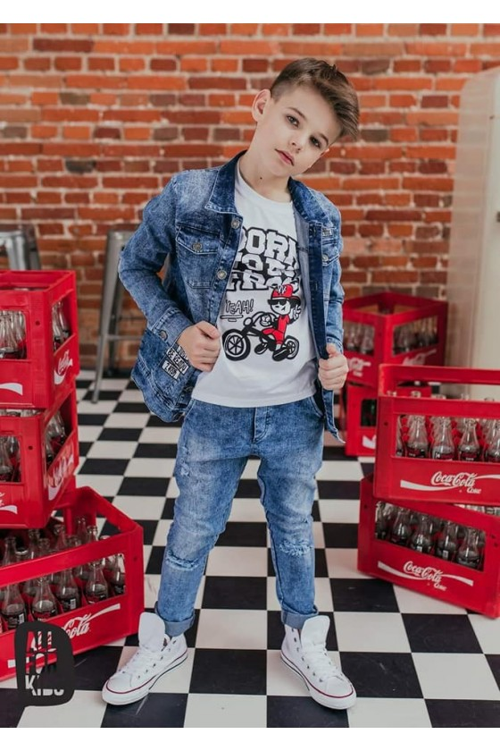 Spodnie jeans dziury all for kids