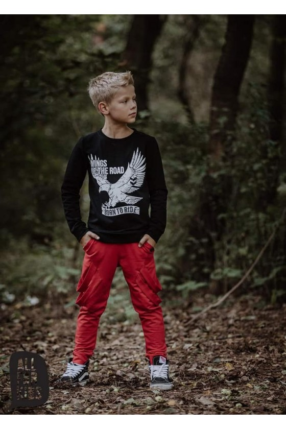 Bluza czarna WINGS all for kids