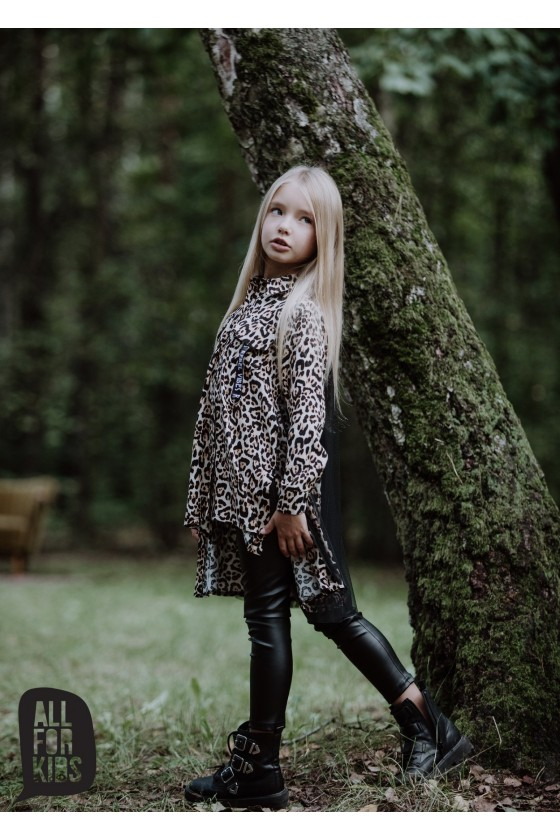 Legginsy z eco skórki all for kids